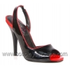 Seduce-117 Black/Red Patent